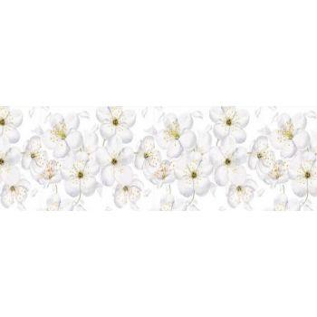 Köögitagaseina dekoratiivplaat 308 valged õied 4603739775308