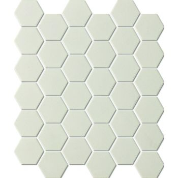 Mosaiik Unglazed hexagon white