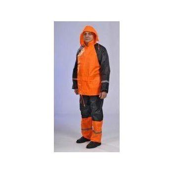 Vihmariiete kmpl L oranž-must