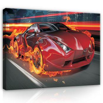 Pilt punane auto 100x75 5901383476343