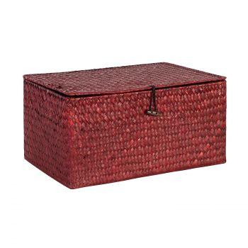 Karp Petra-1 kaanega 35x23xH17cm punane