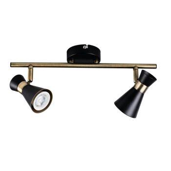 Kohtvalgusti Mileno 2x35W must/kuldne