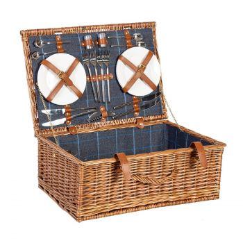 Piknikukohver 4-le Apollo lux pruun
