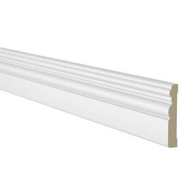 Ukseliist 12x70mm 2,2m MDF valge profiil 2