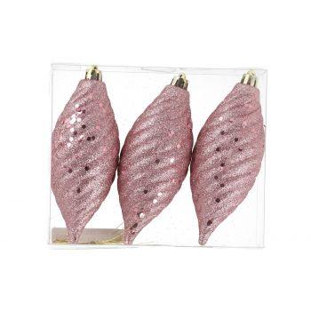 Kuuseehted 3tk 12cm Koonus roosa 6410413311053