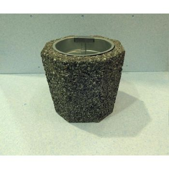 Prügikast pesubetoonist, 32/29cm, tühjendusämbriga 7,5l, tume