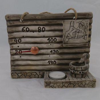 Saunatermomeeter küünlapesaga, keraamiline 4740520005456