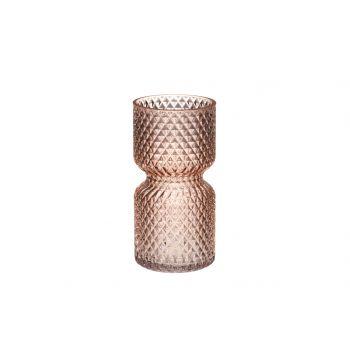 Lillevaas Drop klaasist 20cm roosa