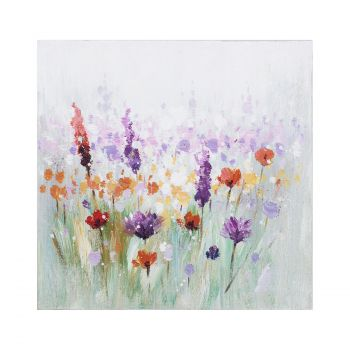 Pilt õlimaal 30x30cm värvilised lilled