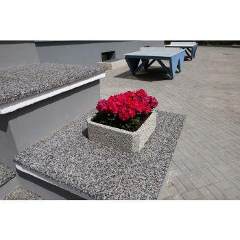 Betoonist lillevaas 45*45/H15cm 4744653010394