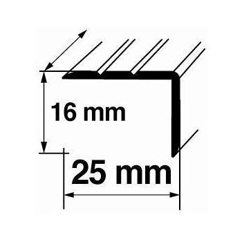 Nurgaliist A13 0,9m 16x25mm pronks