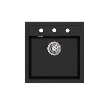 Graniitvalamu Aquasanita SQT100-601W must 490x510mm
