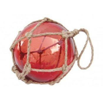 Dekoratiivne klaaspall punane D15cm