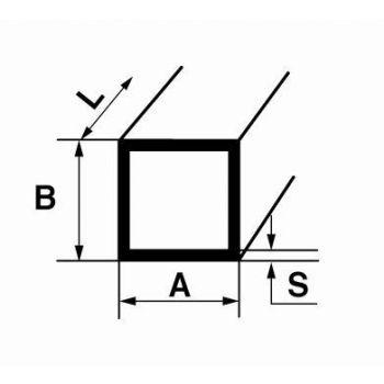 Alumiiniumist kantprofiil B19 2m 25x25x2mm hõbe