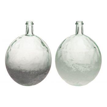 Lillevaas klaasist pirn 27cm valge