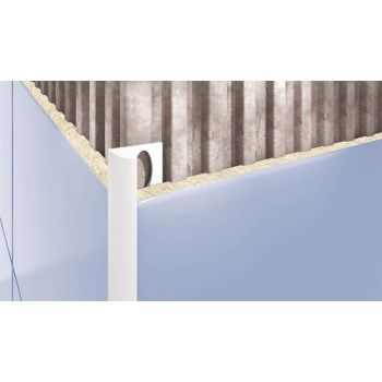 PVC-liistu välisnurk L 203 helehall 8/2,5  5907684612039