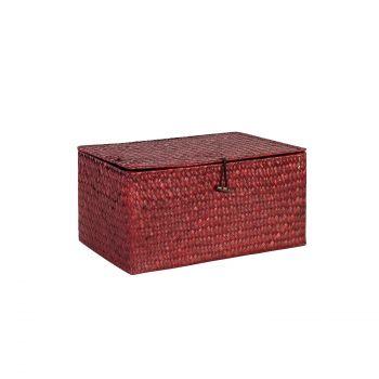 Karp Petra-3 kaanega 25x13xH11cm punane