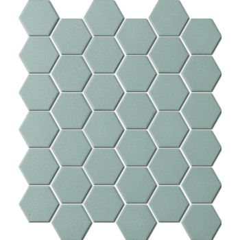 Mosaiik Unglazed hexagon dark grey