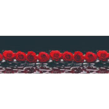 Köögitagaseina dekoratiivplaat 261 punane roos 4603739775261