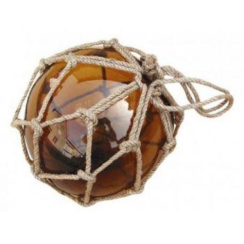 Dekoratiivne klaaspall kollane D15cm