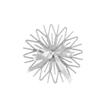 Kuuseehe Snowflower 12,5cm hõbe 331083 Kuuseehted 6410413310810