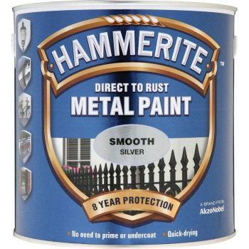 Metallivärv Hammerite Smooth, läikivsile pind, 750ml, hõbedane