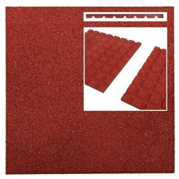 Kummimatt punane 50x50x2,5cm 760804