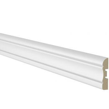Ukseliist 12x58mm 2,2m MDF valge profiil 1