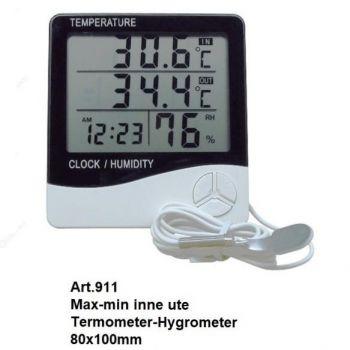 Digitaalne termo-hügromeeter valge
