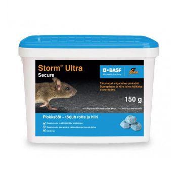 Hiire- ja rotimürk Storm Ultra plokksööt 150g 4041885207012
