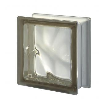 Klaasplokk PEGASUS 19/O laineline pruun BRI (Siena)