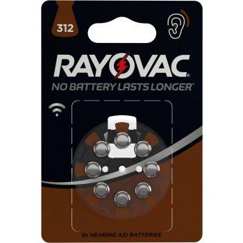 Patarei Rayovac 312 kuuldeaparaadi d 8-pakk 5000252003793