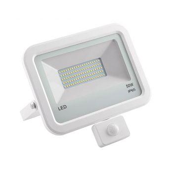 Prožektor LED 50W liikumisanduriga valge 882-50S Prožektorid 4743157082500