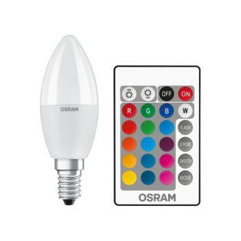 LED lamp 5,5W E14 RGBW + pult