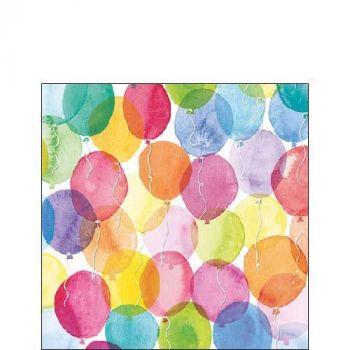 Salvrätik Aquarell Ballons 25x25cm 8712159143287