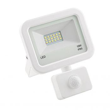 Prožektor LED 10W liikumisanduriga valge