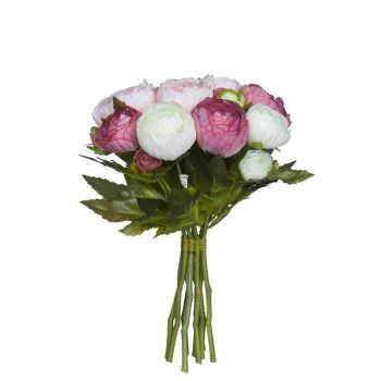 Kunstlill Renoncule kimp roosa 19cm