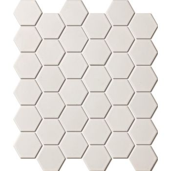 Mosaiik Hexagon white matt