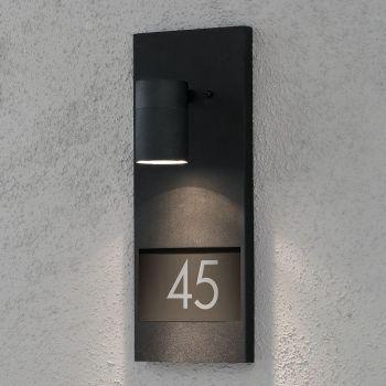 Valgusti Modena, numbrivalgusti, seina, must
