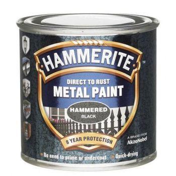 Metallivärv Hammerite Hammered, vasardatud pind, 250ml, must