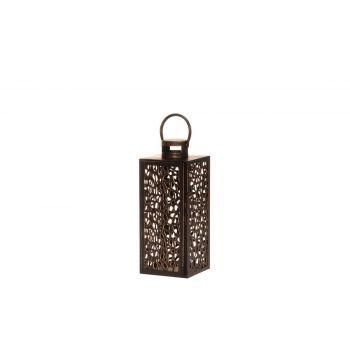 Latern Shimmer metallist 40cm pruun