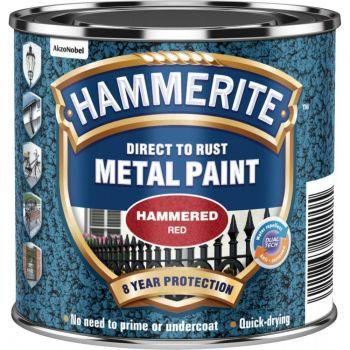 Metallivärv Hammerite Hammered, vasardatud pind, 750ml, punane