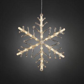 Jõuluvalgusti Lumehelves 24LED soe valge 7318305401037