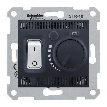 Põrandaküttetermostaat Sedna 10A-230V grafiit 3606480672309