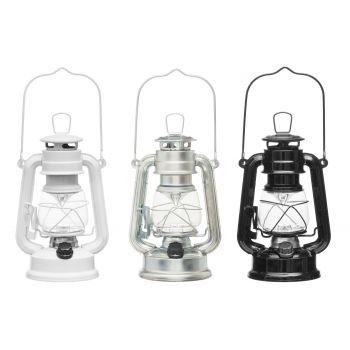 Tormilatern LED-valgustusega 19,5cm valge/must/tsink