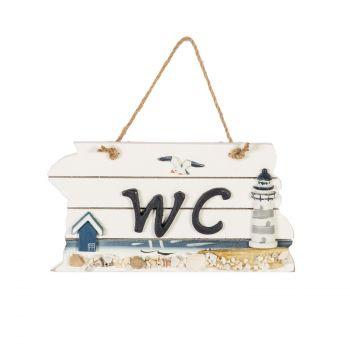 Uksesilt WC Beach House 22x12.5cm