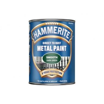 Metallivärv Hammerite Smooth, läikivsile pind, 750ml, tumeroheline