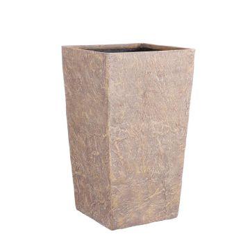 Lillepott Bravo kandiline pruun kiltkivi 31 x 31 x K 54cm 8718861870503