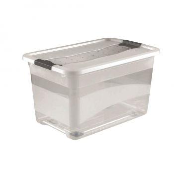 Kast Crystal-box kaanega 52L ratastega 4001515943017