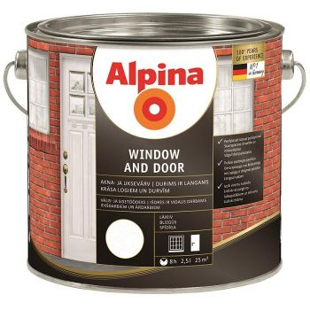 Akna- ja uksevärv Alpina WINDOW AND DOOR 2,5 l 4001244706969